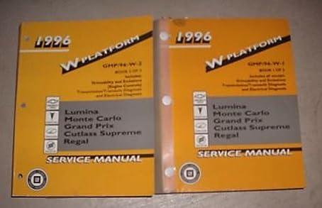 1996 chevy lumina service shop repair manual set oem service manual rh amazon com chevrolet lumina repair manual download chevrolet lumina repair manual