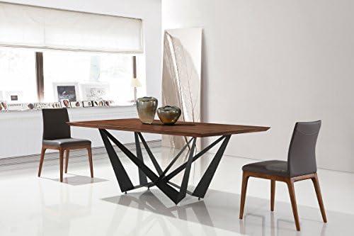 Table A Manger Rectangulaire Design En Bois Factory Amazon Fr