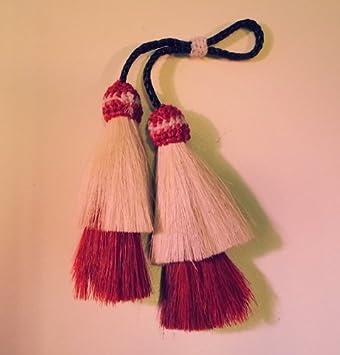 AKTION Schlüsselanhänger Tassel Doppelt aus Pferdehaar