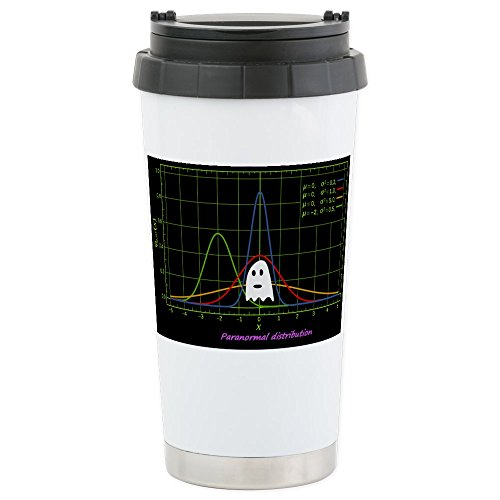 CafePress - Paranormal Distribution Ghost - Stainless Steel Travel Mug, Insulated 16 oz. Coffee Tumbler by CafePress