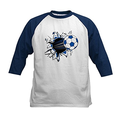 Top CafePress - Soccer Ball Burst Kids Baseball Jersey - Kids Cotton Baseball Jersey, 3/4 Raglan Sleeve Shirt free shipping