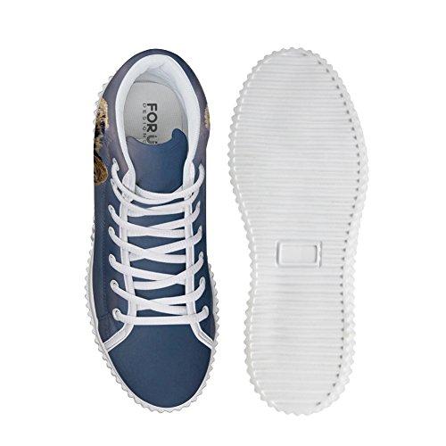 Animal Cute Shoes HUGSIDEA Sneakers Fashion Platform Printing Leopard Fq5wwTgS
