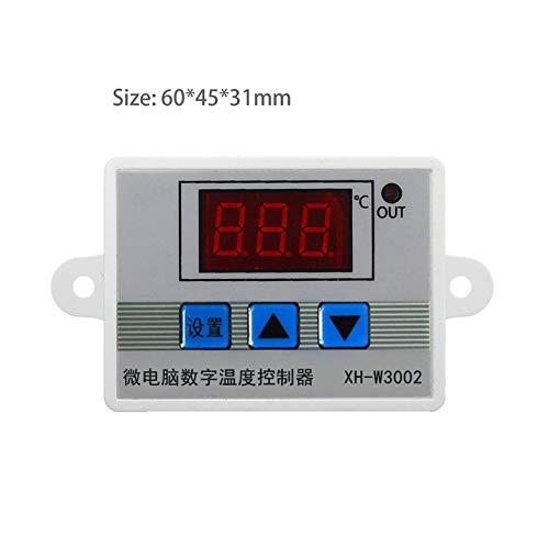 Controlador digital de temperatura LED Termostato Interruptor de control Sonda impermeable Cable Conectar Sensor de temperatura de alta sensibilidad-Blanco 12V