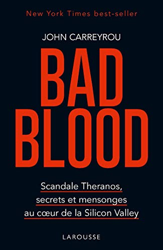 Ebook cover from Bad blood (French Edition) by John Carreyrou