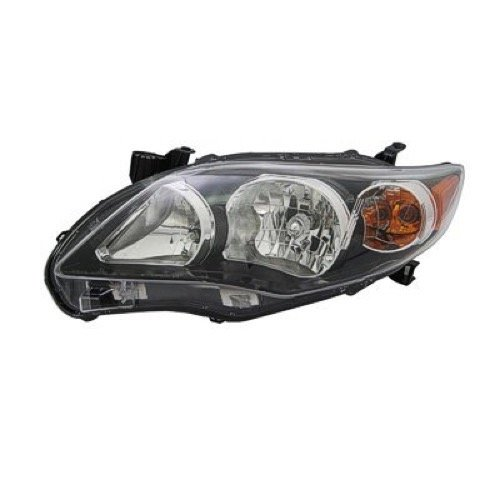 Go-Parts » Compatible 2011-2013 Toyota Corolla Front Headlight Headlamp Assembly Front Housing/Lens / Cover - Left (Driver) Side - (S) 81150-02B60 TO2502204 Replacement for Toyota ()