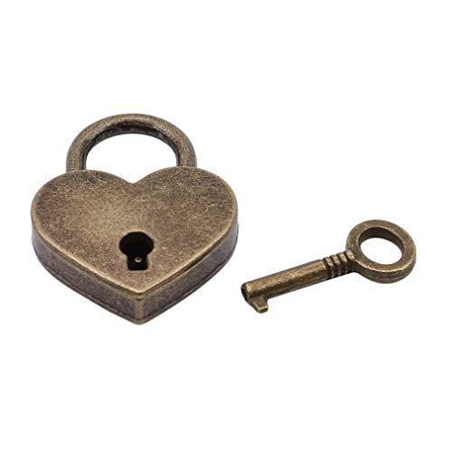 EH-LIFE Padlock Mini Love Heart Shape Padlock Tiny Luggage Bag Case Keys Suitcase Locker Hardware Set by EH-LIFE (Image #6)