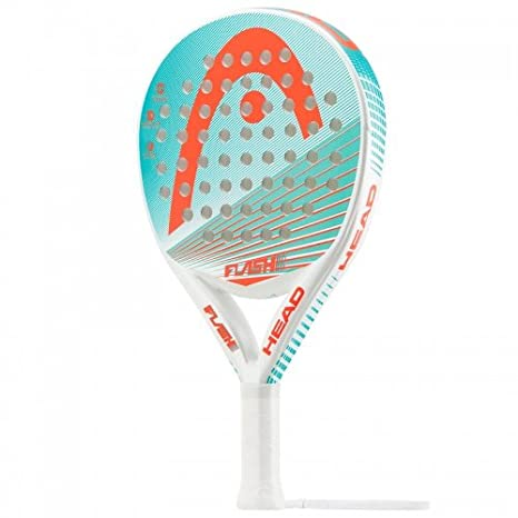 Head Flash Women - Pala de pádel, Color Blanco/Verde/Naranja, Talla 38 mm