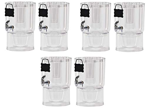 Buddeez Pary Top Beverage Dispensers, 1.75 Gallon, Clear (Pack Of 2) (3-(Set) of 2)