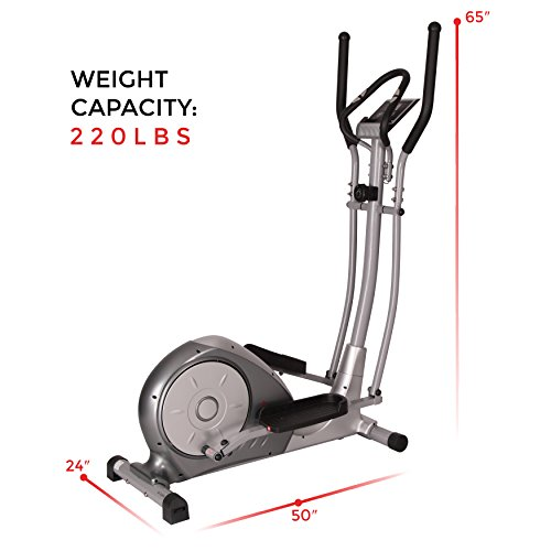Magnetic Elliptical Trainer with Adjustable Resistance, Hand Pulse Sensors by Sunny Health & Fitness – SF-E3608 by Sunny Health & Fitness (Image #8)