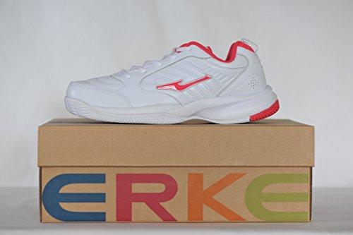 Femmes Blanche Erke de Chaussures Tennis Rouge et qBwHgaWA