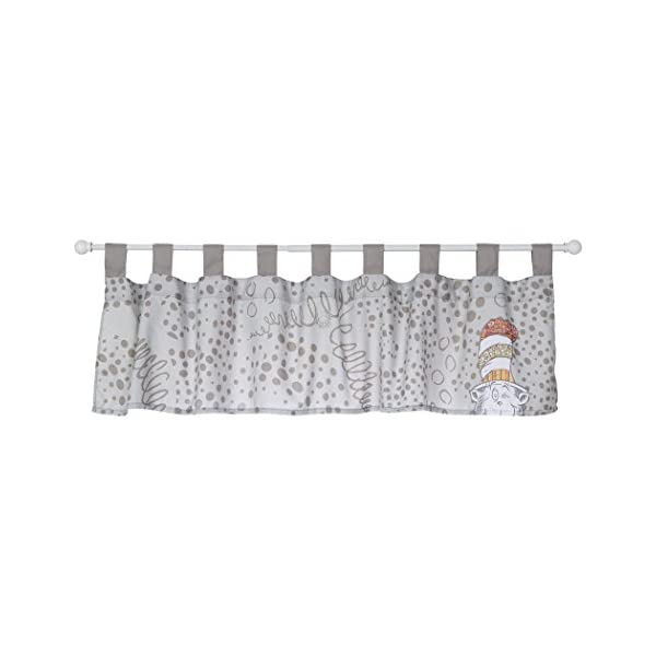 Trend Lab Dr. Seuss Peek-a-Boo Cat in The Hat Window Valance, Multi