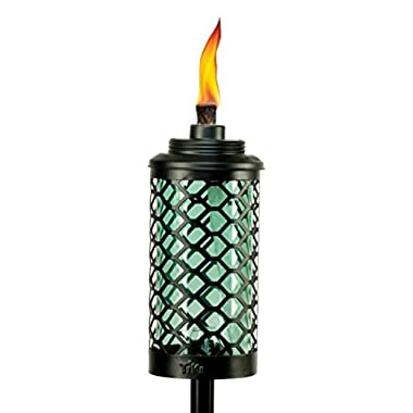 TIKI Brand Glass Honeycomb Torch, 65 Inches, Blue