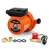 KOLERFLO Home Pressure Booster Pump 948 GPH,18.6 PSI Automatic Boost Pump with Water Flow Switch for Household (UPA120 Orange) (Color: Orange, Tamaño: 1 inch)