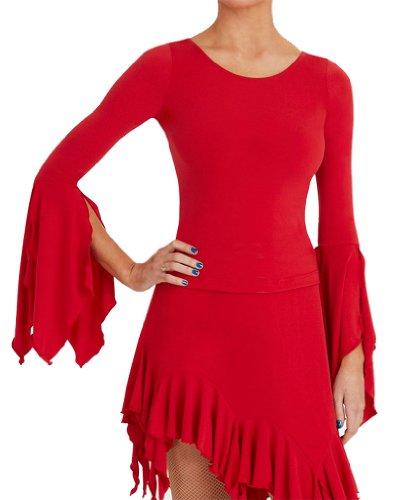 Capezio dsa002con mangas largas Rojo rojo Talla:S (36-38) Rojo - rojo