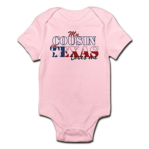 CafePress My Cousin in TX Infant Bodysuit - Cute Infant Bodysuit Baby Romper -