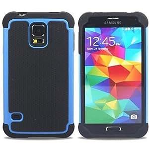 HJZ Samsung S5 I9600 compatible Special Design Plastic/Silicone Back Cover , Green
