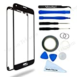 SAMSUNG GALAXY S5 G900 SERIES BLACK DISPLAY TOUCHSCREEN REPLACEMENT KIT 12 PIECES INCLUDING 1 REPLACEMENT FRONT GLASS FOR SAMSUNG GALAXY S5 / 1 PAIR OF TWEEZERS / 1 ROLL OF 2MM ADHESIVE TAPE / 1 TOOL KIT / 1 MICROFIBER CLEANING CLOTH / WIRE
