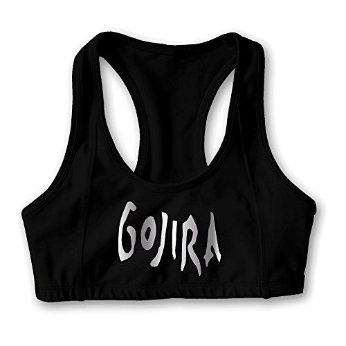 Gojira Band Platinum Logo Women's Oxjwn Yoga Sports Bra