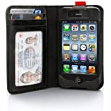 Twelve South BookBook for iPhone 4/4s, black   Vintage leather iPhone book case and wallet