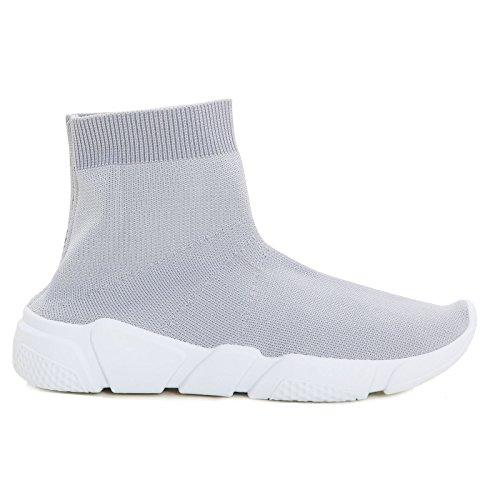 L9XX246 Sintético Gris gris de Zapatillas Gris EU 1 35 Para Material Toocool Mujer q6dXX