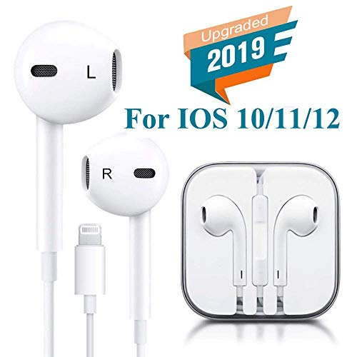 Earbuds, Microphone Earphones Stereo Headphones Noise Isolating Headset Compatible with iPhone Xs/XS Max/XR/X/8/8 Plus/7/7 Plus Earphones4