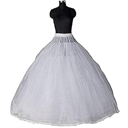 Fishlove Long 8 Layers Hoopless Ball Gown Petticoats Pe5