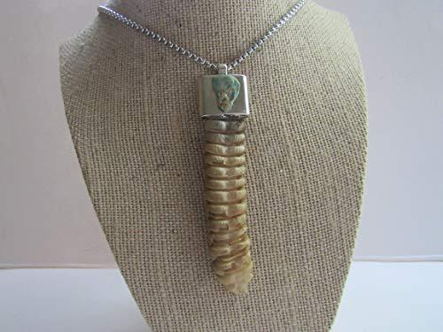 Rattlesnake Rattler Pendant Snake Necklace Turquoise Necklace Spirit Animal Bone Jewelry Boho N673