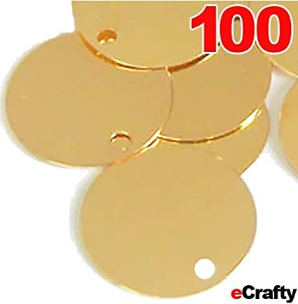 20x 20mm Plated Coin Round Stamping Blank Tag Metal DIY Jewelry Making Craft