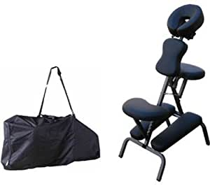 """Portable Massage Chair Comfort 4"""" Thick Foam Light Weight Best Massage Brand With Free Carrying Bag BLACK"""