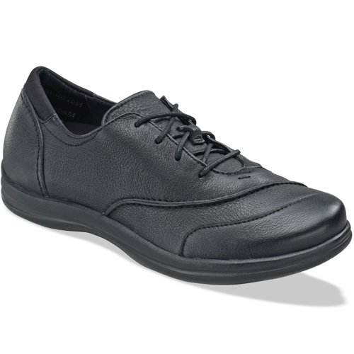 Apex Womens Karen Oxford Lace Up - Black 5 W (D) V3XeTEiP