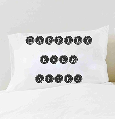 His and Hers Pillow cases Happily Ever After Pillowcase Set Couples Pillowcases
