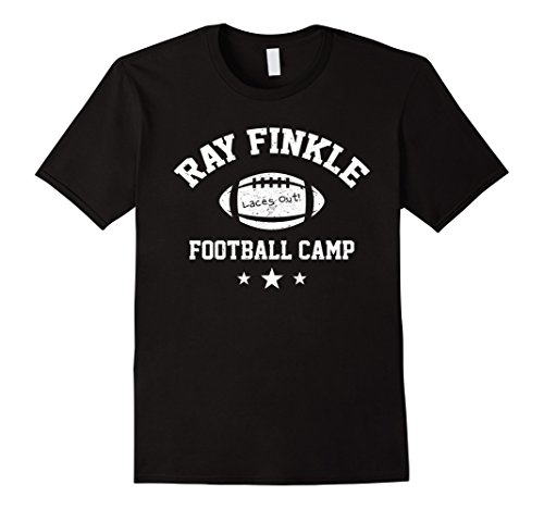Mens Ray Finkle Football Camp Shirt Funny Football Laces Out Tee XL Black -