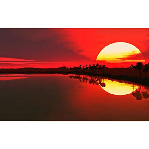 (Diamond Painting Paint Kits for Adults Kids, Full Drill Resins Crystal Rhinestone Embroidery Painting 5D DIY Cross Stitch Kits Arts Craft for Home Wall Decor Gift (Sunset, 16