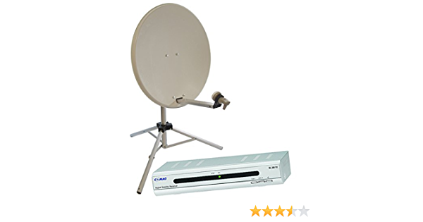 Satgear - Sistema satélite portátil con antena parabólica de 65 cm, trípode y receptor Comag de 12 V, color blanco [Importado de Reino Unido]