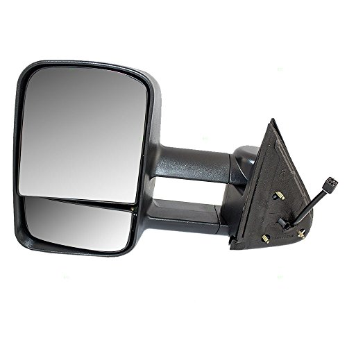 Drivers Power Performance Upgrade Side View Mirror Heated Manual Telescopic Tow Arms Replacement for Chevrolet GMC Pickup Truck GM1320411 AutoAndArt