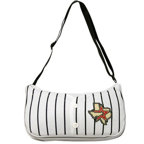 MLB Houston Astros White Pinstripe Baseball Jersey Purse