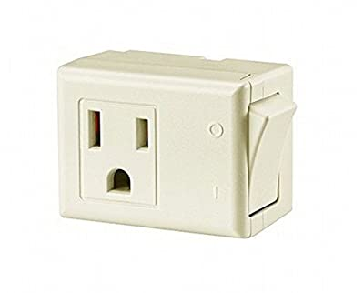 Leviton 15 Amp 125V AC 3-Wire Grounded Switch Tap with On/Off Button