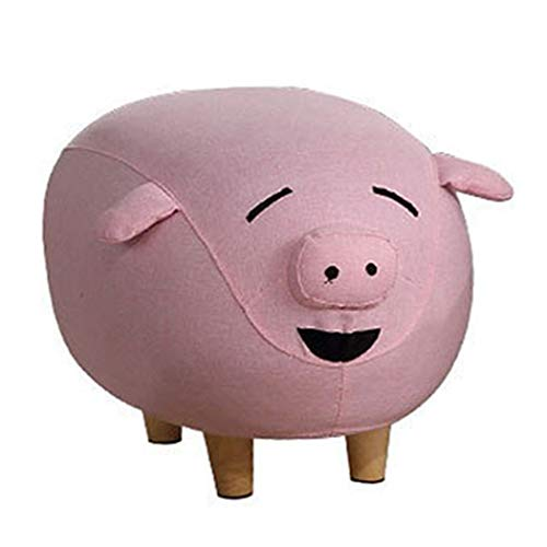 - YONGYONG-hammock Multi-Function Footstool Shoe Stool Children Pet Pig Stool Mini Cartoon Pig Stool Fabric Pig Doodle Style 604040cm (Color : Pink - Flannel, Size : 604040cm)