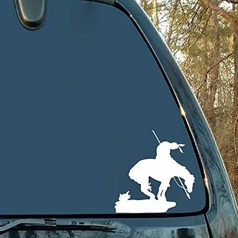 Personalized car stickers 13.7 X 13.9CM Malheureux Soldat Indien Triste Couvrir Corps Autocollant De Voiture De Mode Guerrier Decal csfssd Color : Black