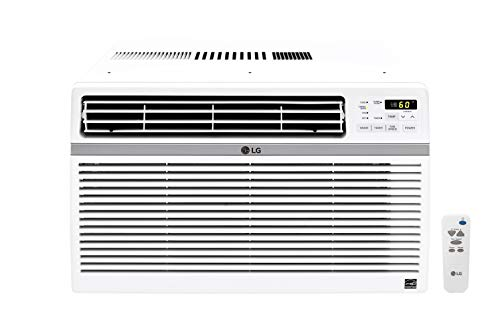 LG 12,000 BTU 115V Window-Mounted Air Conditioner with Remote Control, White