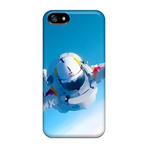 [MnPLHnZ1104eEybp]premium Phone Case For Iphone 5/5s/ Space Man Felix Baumgartner Tpu Case Cover