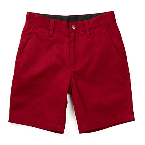 - Born to Love Knuckleheads Baby Kids Chino Shorts (6-12 Months, Burgundy)