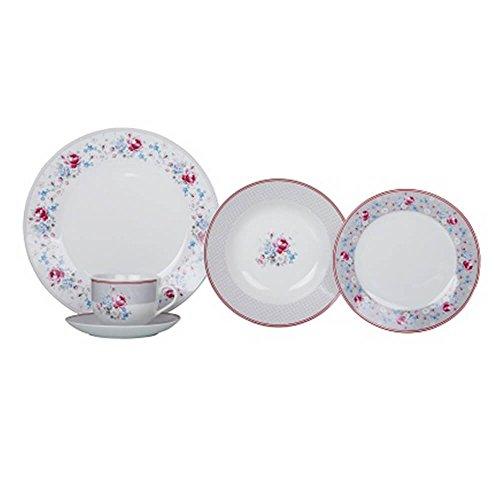 Aparelho de Jantar 30 Peças Porcelana APJA037 Valentina - Casa Ambiente