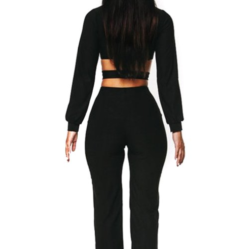Hee Grand Women Sexy Cross Jumpsuit