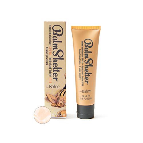 BalmShelter Silky-Smoth Tinted Moisturizer, Lighter Than Light, Polished Complexion, Weightless, SPF 18, 2.15 Fl Oz
