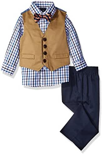 Nautica Baby Boys'' Solid Twill Vest Set with Bow Tie