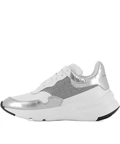 Alexander Mcqueen Damen 513537whs838113 Weiss Leder Sneakers Alexander  Mcqueen Damen 513537whs838113 Weiss Leder Sneakers