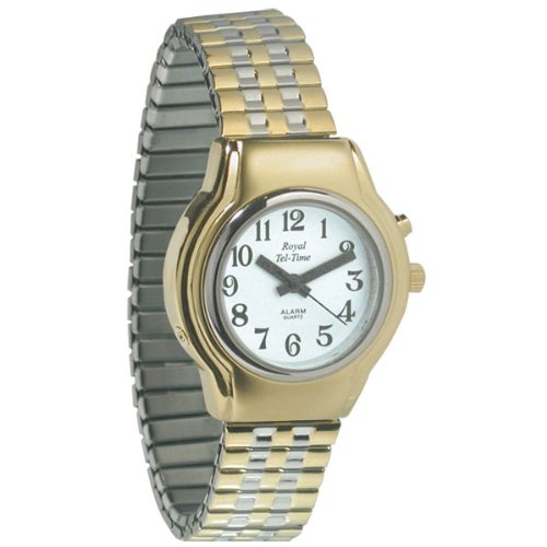 Ladies One Button Talking Watch - Expansion Band by Royal Tel-Time