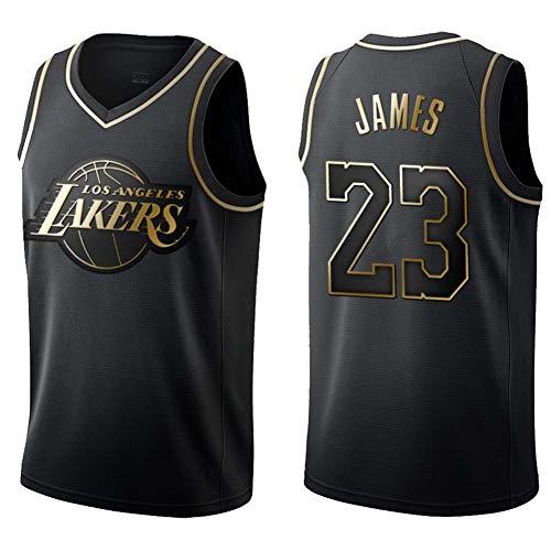 KSITH T-Shirt Men NBA Fans Lakers #23 James Gold Edition Jersey Basketball Clothes Black