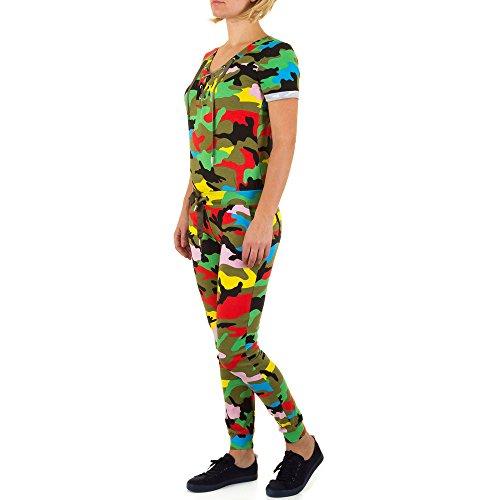 Jumpsuit Camouflage Overall Für Damen , Grün In Gr. M bei Ital-Design